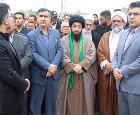 پیکرهای پاک و مطهر ۲ شهید نیروی انتظامی صبح یکشنبه با حضور اقشار مختلف مردم در بندر امام خمینی (ره) تشییع شدند