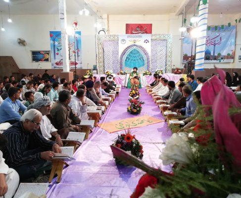 مراسم جمع خوانی قرآن کریم در شهرک طالقانی برگزار شد